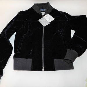 James & Co Molly Navy Blue Velvet Jacket